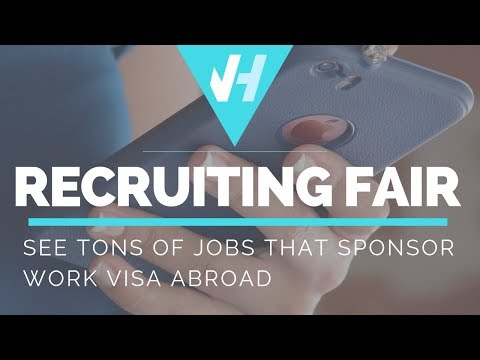 RECRUITING FAIR! See Tons of Jobs that Sponsor Work Visa Abroad!