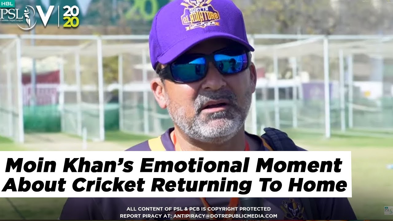 Moin Khan Emotional Moment About Cricket Returning To Home | HBL PSL 5 | 2020