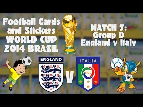FOOTBALL CARDS & STICKERS WORLD CUP 2014 ☆ MATCH7 ENGLAND v ITALY ☆ panini Adrenalyn XL opening