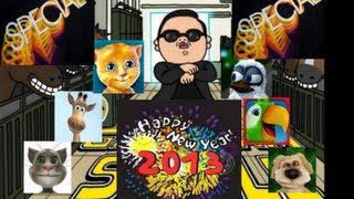 New Years Special! Talking Tom Sings Gangnam Style! Full song!