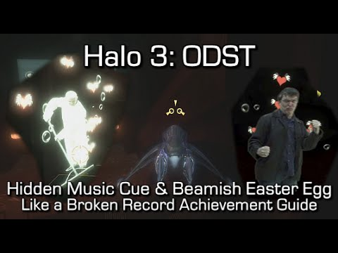 Halo 3: ODST - Like a Broken Record Achievement Guide - Hidden Music Cue & Beamish Easter Egg