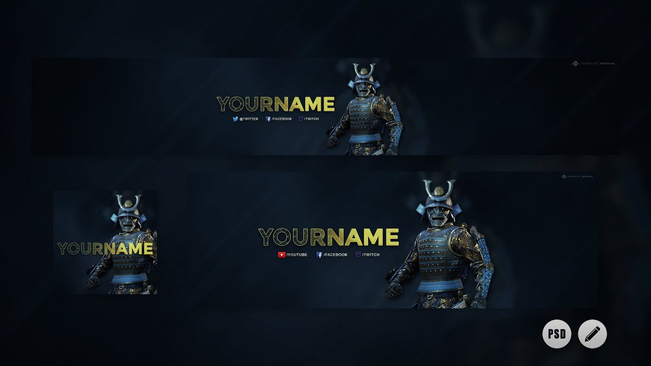 Free Call Of Duty Samurai Revamp Free Youtube Banner