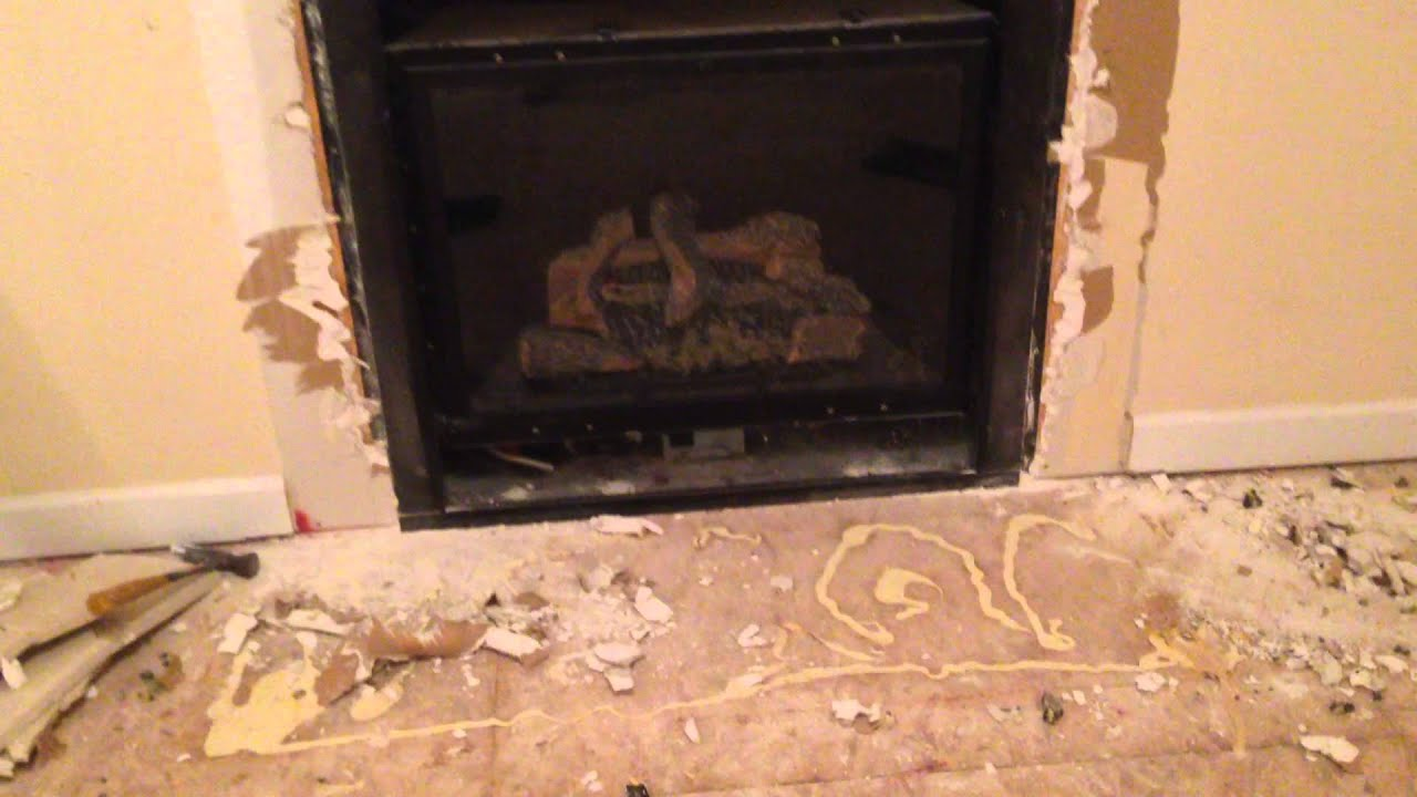 Removing the Old Mantel - YouTube