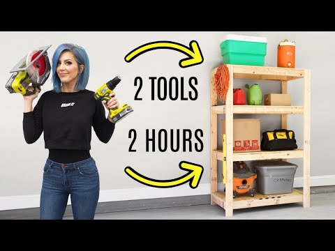 EASY DIY Garage Shelves | FREE BUILDING PLANS!
