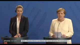Deutsch-dänische Beziehungen: PK mit Merkel und Frederiksen (Ministerpräsidentin Dänemark)