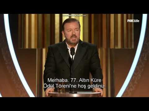 Ricky Gervais Golden Globes 2020 Opening Speech Türkçe altyazılı