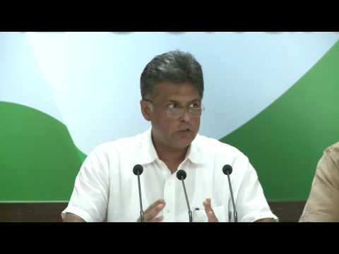 AICC Press Briefing By Manish Tewari at Congress HQ, May 17, 2017