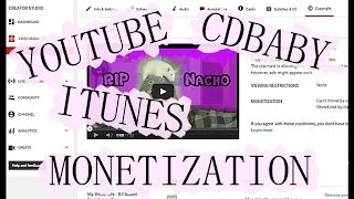 How To Monetize Your Cdbaby/Itunes Music On Youtube