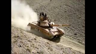 Indian Army T 90 Main Battle Tanks in Super High Altitude of Ladakh.