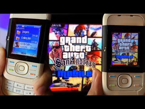✹NOKIA 5200 RODANDO GTA SAN ANDREAS - GAME RETRO - XPRESS MUSIC