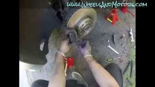 how to replace brake pads and discs vw sharan mk2 second generation 7n model