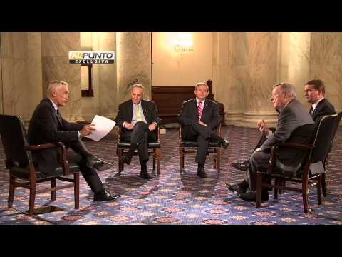 U.S Senators talk with Jorge Ramos about immigration