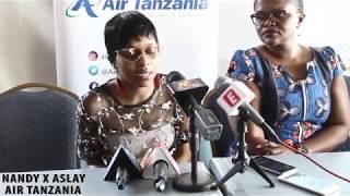 Nandy na Aslay wakipewa ubalozi wa Air Tanzania