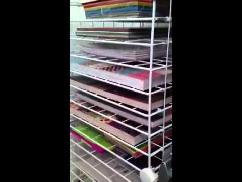 Diy Paper Rack Organizer Storage Youtube