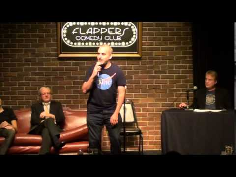 Jeff Klein at Flappers (8-31-14). Stand up and Interview with host.