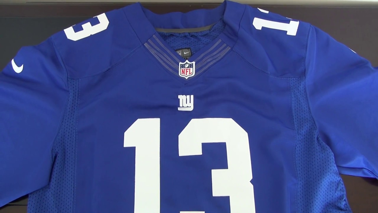 best sneakers 20f0a 3b302 NFL New York Giants 13# Odell Beckham JR Jersey unboxing-jerseys.ru review