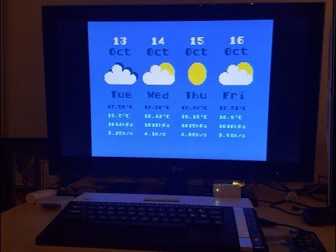 Clima y tiempo en computadoras Atari con FujiNet