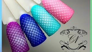 пузырчатый дизайн ногтей с помощью аэрографа и без негоКак закрепить аэрографию на ногтях