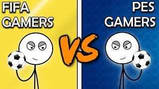 FIFA Gamers VS PES Gamers