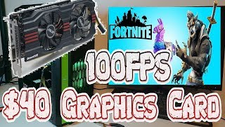 ASUS Radeon HD7850 Fortnite 100 FPS for $40 WOW cheap budget build pc