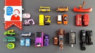 Learning Vehicles Colors for kids with tomica Cars and Trucks Lego thumbnail