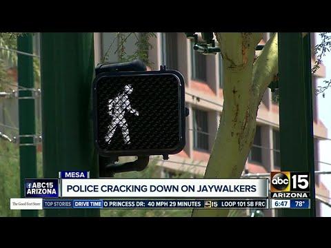 Mesa police cracking down on jaywalkers