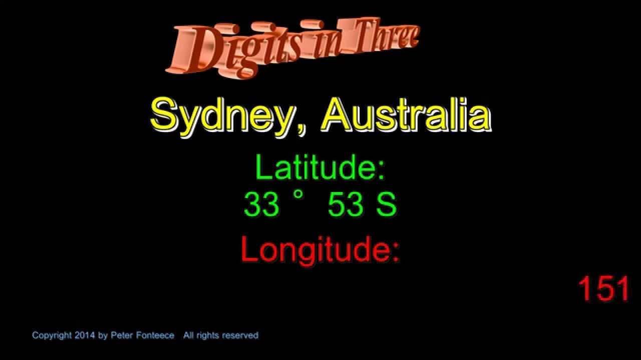Sydney longitude
