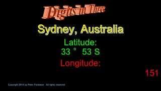 Sydney Australia - Latitude and Longitude - Digits in Three