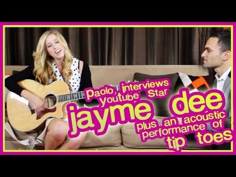 """Jayme Dee Interview & Acoustic Performance Of """"Tip Toes""""!"""