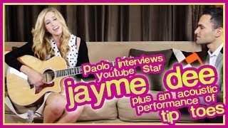 "Jayme Dee Interview & Acoustic Performance Of ""Tip Toes""!"