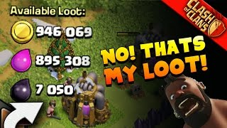 """Clash of Clans: """"I GIVE AWAY MY LOOT?"""" TRAP BASE DOESN'T TRAP WELL..."""
