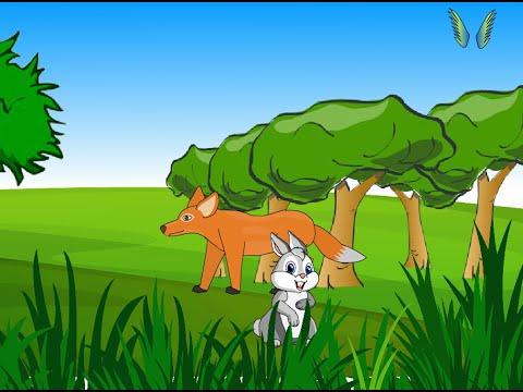 Saslu ane Siyal  Gujarati Bal Varta  Rabbit and Fox