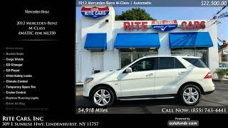 Used 2012 Mercedes-Benz M-Class | Rite Cars, Inc, Lindenhurst, NY