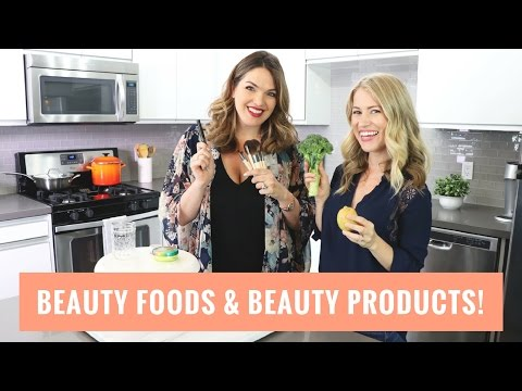 Beauty Foods & Beauty Products! Collab with Sharzad! | Healthy Grocery Girl
