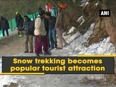 Snow trekking becomes popular tourist attraction - ANI News