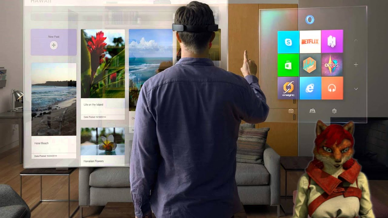 microsoft hololens un casque de r alit virtuelle youtube. Black Bedroom Furniture Sets. Home Design Ideas