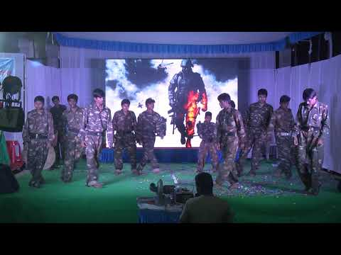 ARMY DANCE BY 6th TO 9th BOYS