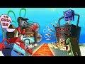 Minecraft | SECURE BASE CHALLENGE - Krusty Krab vs Chum Bucket! (Spongebob Base)