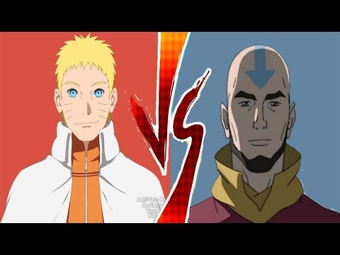 Adult Avatar Aang VS Hokage Naruto!! - Who is Stronger?