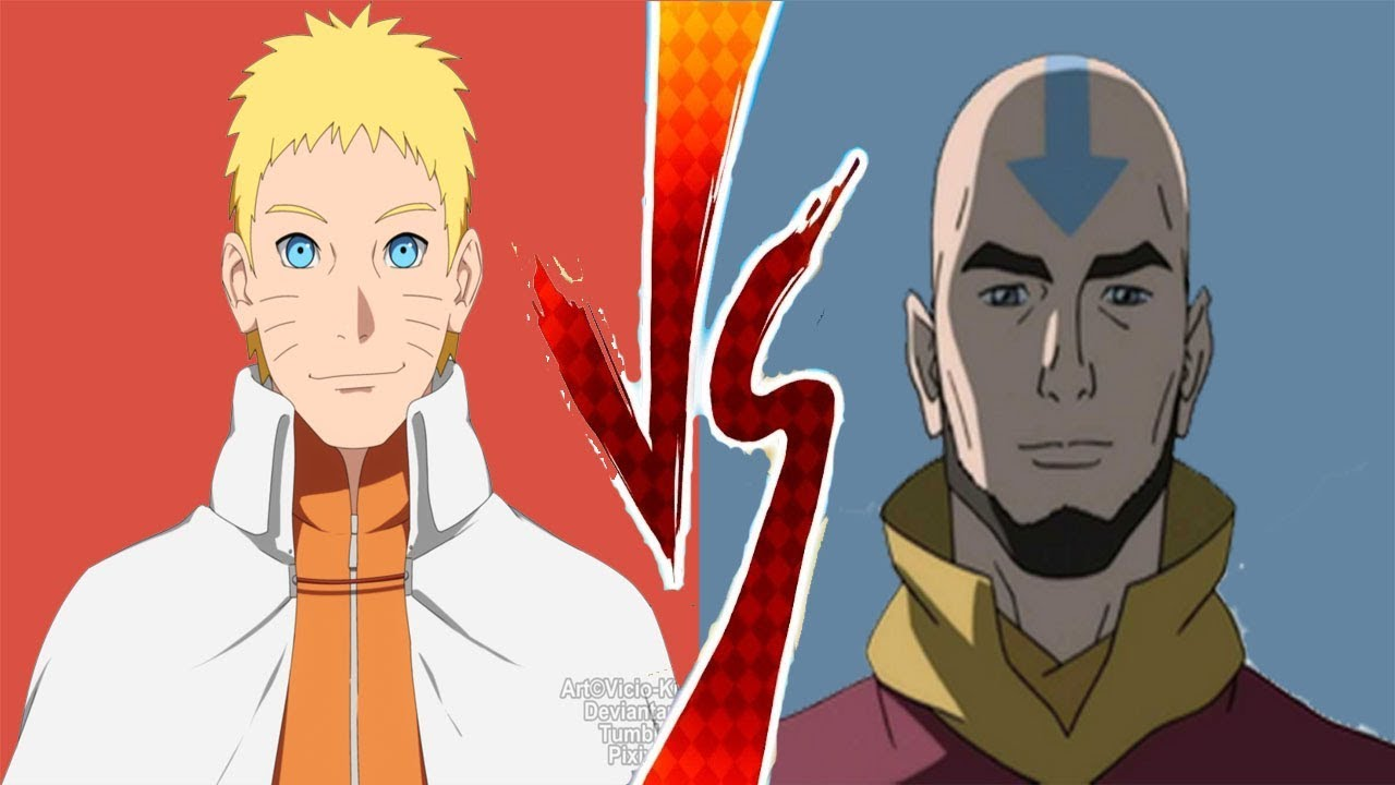 Adult Avatar Aang VS Hokage Naruto!! - Who is Stronger ... Naruto Vs Avatar