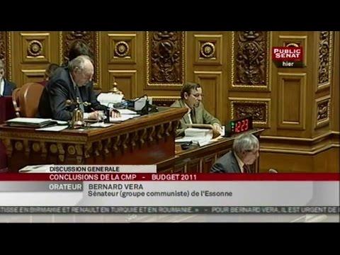Commission mixte paritaire du projet de loi de finances pour 2011 - Séance (16/12/2010)