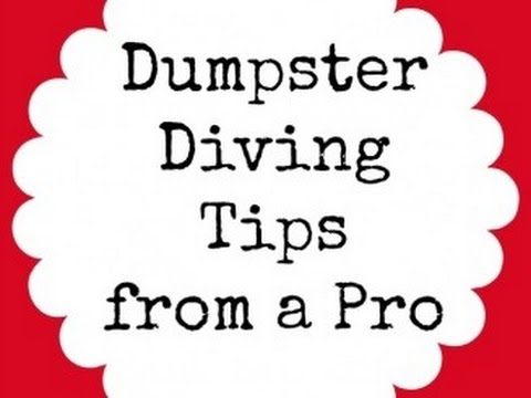 How to Dumpster Dive / Is it legal? / Tips to Dumpster Diving
