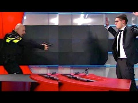 NOS gijzeling Dreiging in NOS-pand Hilversum Tarik Zahzah (19) met pistool !