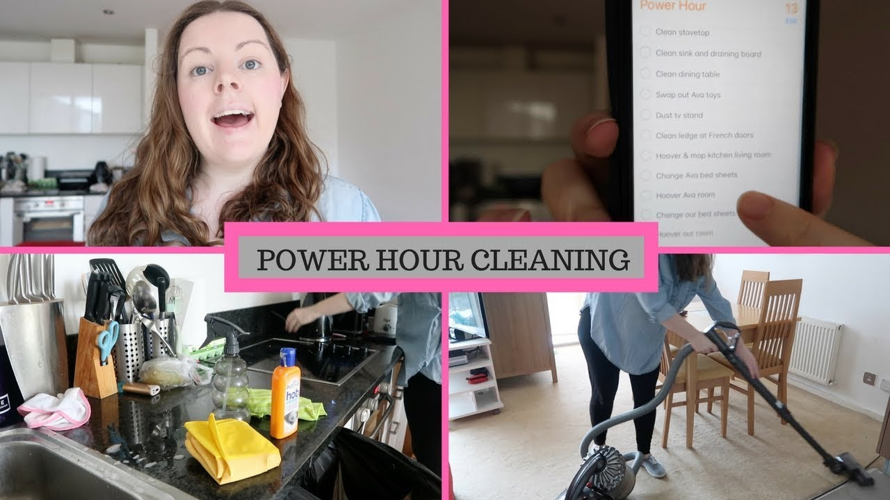 POWER HOUR CLEANING || CLEANING MY APARTMENT - YouTube