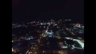 Orrville Ohio from the Sky at Night