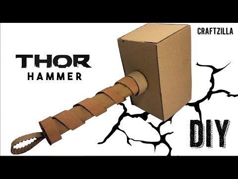 How To Make Thor Hammer From Cardboard | Marvel Avengers Endgame Thor | CraftZilla