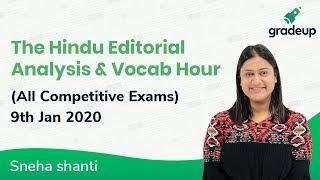 The Hindu Editorial & Vocab Hour|9 Jan 2020| Bank, SSC, U