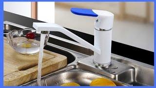 Обзор: смеситель белый для кухни F4534