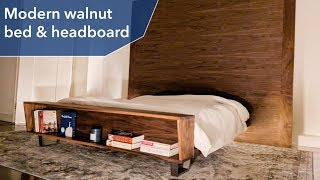 Modern walnut bed | DIY | Woodworking