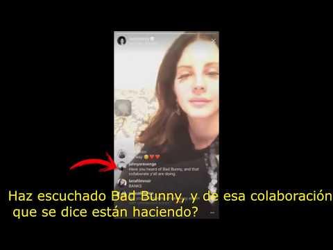 Lana Del Rey habla de su supuesta colaboración con bad bunny